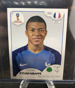 Kylian Mbappe #197 - Panini 2018 World Cup - France Rookie Sticker Pink Back (a)