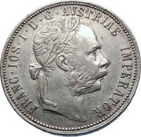 1888 AUSTRIA w KING FRANZ JOSEPH I Eagle Arms Silver Florin Vintage Coin i72484