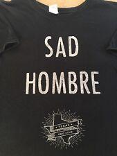 Black Sad Hombre Texas Emo Club Music Short Sleeve T-shirt Size Large (P3)