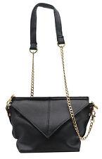 Trendy Black Colour Chain Strap Magnet Closure Designer Sling Bag For Women