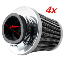 4x Tapered 48mm Inlet Universal Clean Air Filter For Motorcycle ATV Scooter Quad
