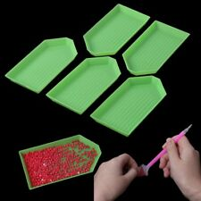 5pcs DIY 5d Diamond Painting Rhinestone Tray Plate Embroidery Cross Stich Tool
