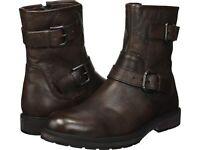 Size 9M Kenneth Cole Reaction Mens Drue Fashion Boots B Brown, NIB
