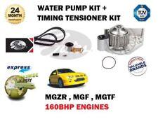 FOR MGF MGZT MGTF 1.8 160bhp 2001-> TIMING CAM BELT TENSIONER KIT + WATER PUMP