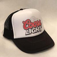 Vintage Coors Light Banquet Beer Trucker Hat Mesh Snapback Promo Cap Black