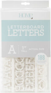 """DCWV Letterboard Letters & Characters 1"""" 188/Pkg-White - 2 Pack"""
