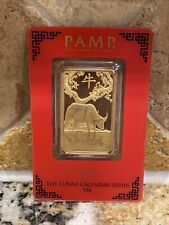 1 oz Gold Bar - Pamp Year Of The Ox 2021 - Suisse Gold Bar In Assay