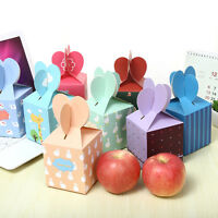 10pcs Christmas Gift Boxes Decorate Apple Loot Lolly Candy Party Bag Cupcake SH