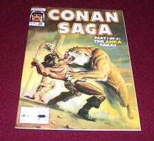 Conan Saga #38 (May, 1990 Marvel) Comic Magazine Barbarian Bob Larkin Cover