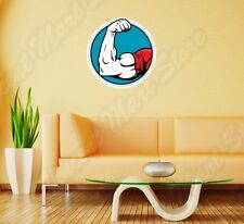 "Arm Wrestling Biceps Strong Arms Wall Sticker Room Interior Decor 22""X22"""