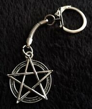 Pentagram Keyring Chain Rock Emo Goth Grunge Star Mens Gift Steampunk Star