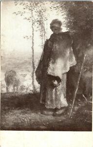 Millet, Little Shepherdess, Art Institute of Chicago - Postcard (M5)