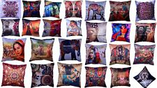 Indian Handmade Abstract Silk Cushion Cover Ethnic Sofa Pillow Cover Home Decor