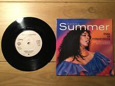 RECORD SINGLE 45 DONNA SUMMER STATE OF INDEPENDENCE PICTURE COVER DISCO DIVA