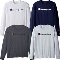 Champion Men's Classic Jersey Long Sleeve Script T-Shirt Limited Edition (S-XL)