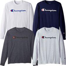 06fd9490c2bd Champion Men s Classic Jersey Long Sleeve Script T-Shirt Limited Edition  (S-XL