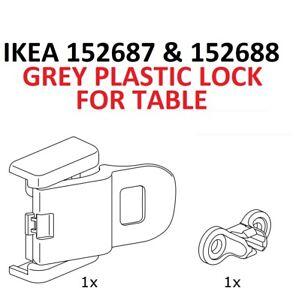 IKEA 152687 152688 Table Lock Fastener Plastic Ingatorp Laneberg Exedalen