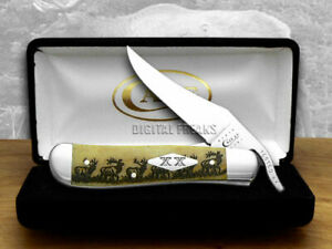 Case xx Russlock Knife Antique Elk Walking ###3 1/500 Pocket Knives