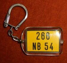 Porte-clés Key ring  Signal France Metz Feux tricolores plaque Immat. 266 NB 54