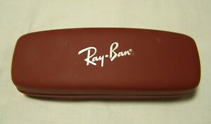 Ray-Ban Red Maroon Slim Hard Clamshell Gatto Sunglasses Case