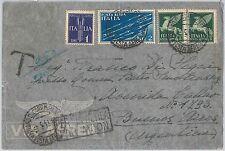 53938 - ITALIA REGNO - Storia Postale:  BUSTA posta aerea LATI - TASSATA 1941