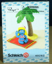 Smurfette Beach Holiday Super Smurf Vintage Figure Smurfs Toy PVC Figurine 40262