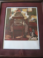 """Norman Rockwell Centennial Editions 100 Years """"Taxes"""" A/P Lithograph Print"""