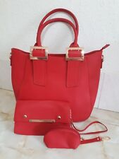 Womens Red Moli Moi Of London Set Of Three Hand Bags