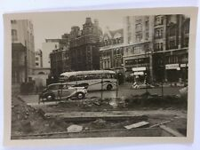 Vintage BW Real Photo #AS: Mystery Street: Roadworks, Bus , Car