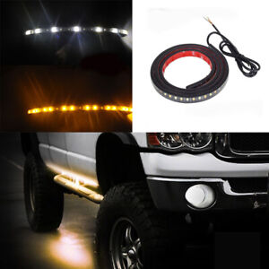 "1PCS 48"" Running Board Side Step LED Light Amber White Turn Signal DRL Strip Bar"