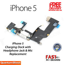 NEW WHITE Complete Charging Port/Dock Flex Cable Repair Replacement FOR iPhone 5