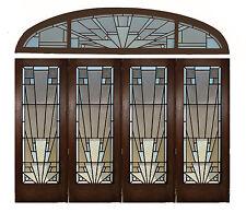 Flügeltüre Flügelfalztüre mit Oberlicht Glastüre Bauhaus Türe Art Deco
