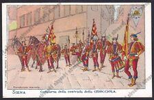 SIENA CITTÀ 52 PALIO Contrada della Chiocciola COSTUMI Cartolina 1900