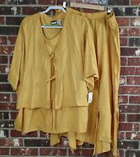 E Style Ebony Spiegel Women's Size XXL Mustard Yellow 2 Piece Skirt Set