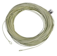 100ft Weight Forward Floating Fly Fishing Line Reduced Friction Green