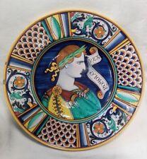Grande piatto in ceramica firmato Deruta #1 cm 42x42 Antikidea