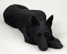NEW Black German Shepherd Figurine LifeLike Realistic Sculpture Statue CC-DFL08D