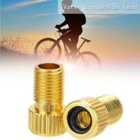 Bike Cycle Bicycle Pump Tube Presta to Schrader Valve Converter Adapter Y6Y4