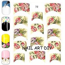 nail art water decals-sticker transfers FRENCH FLOWERS-TATTOO-adesivi FIORI !!!