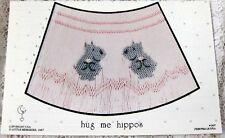 ~ NEW LITTLE MEMORIES HUG ME HIPPO SMOCKING DESIGN PLATE SO CUTE  ~