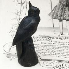Ancienne Statuette Animalière Bronze Perruche Calopsitte Perroquet Parrot
