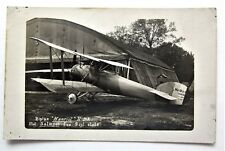 """RPPC """"Hanriot"""" H-D3 Biplane 9 cyl. French Early AIRPLANE Postcard"""