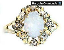 solid opal diamonds hearts gold ring aqua pink purple orange Australian cocktail