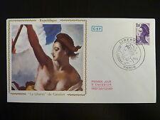 FRANCE PREMIER JOUR FDC YVERT  2276  PEINTURE DE GANDON   10F   PARIS  1983
