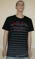 New GUESS Stripe Classic Crew Men`s T-shirt Tee Top, Size L, NWT