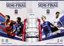 * BOTH 2012 FA CUP SEMI-FINALS - CHELSEA v TOTTENHAM & LIVERPOOL v EVERTON *