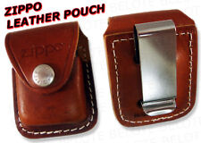 Zippo Brown Leather Pouch w/ Clip LPCB ACCESSORIES NEW