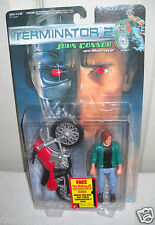 #3696 RARE NRFC Vintage Kenner Terminator 2 John Connor with Motorcycle