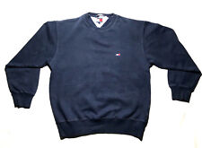 Tommy Hilfiger sweater mens small navy blue crew neck long sleeve 80% cotton