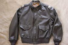 Cooper mfg,  A-2 Leather Flight Jacket ,100%  LEATHER GOATSKIN   size 44-R